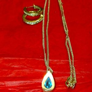 Set of vintage Avon necklace and earrings